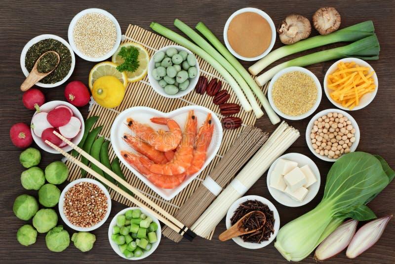 Nourriture biologique macrobiotique japonaise image libre de droits