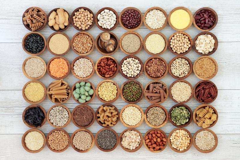 Nourriture biologique macrobiotique sèche photos libres de droits