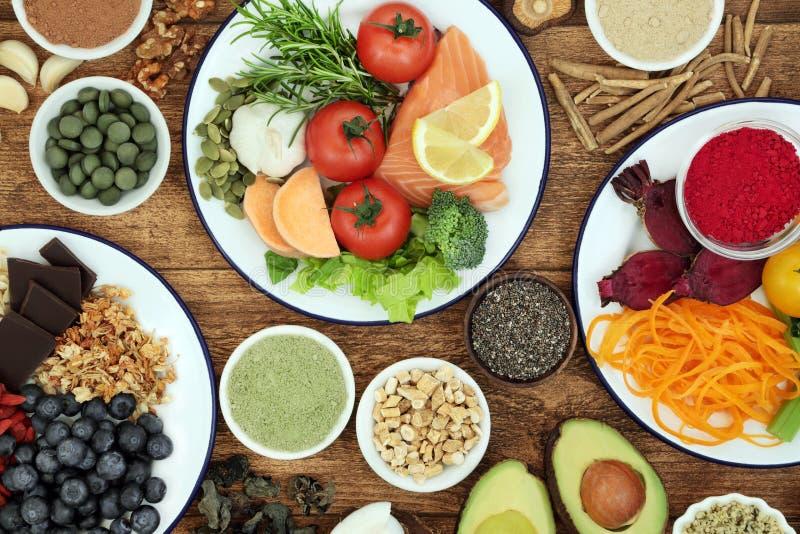 Nourriture biologique pour amplifier Brain Cognitive Functions photo libre de droits