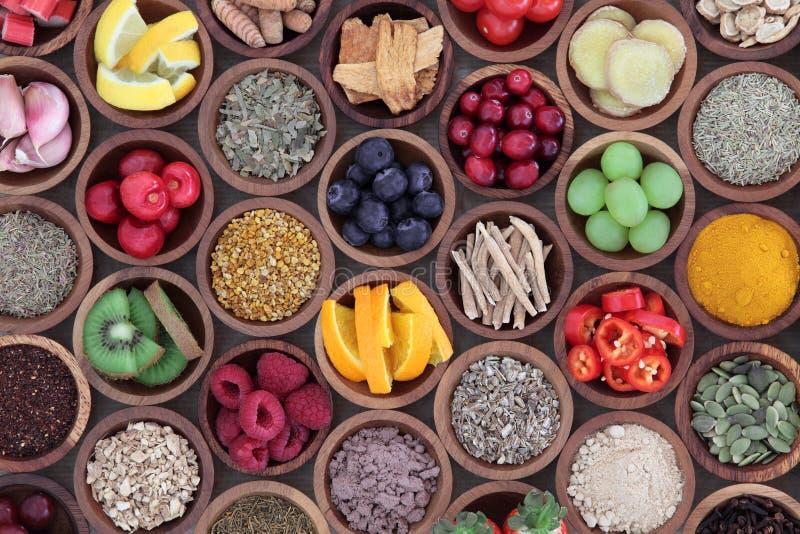 Nourriture biologique pour amplifier le système immunitaire images libres de droits