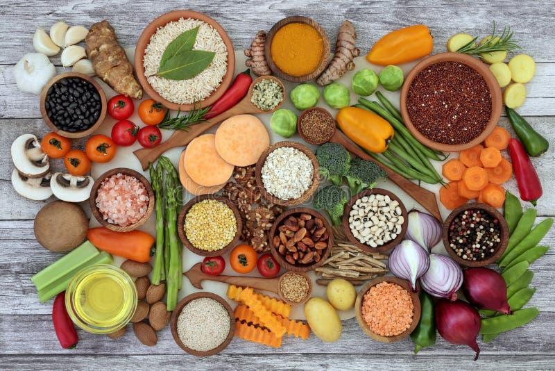 Nourriture biologique pour la forme physique images libres de droits