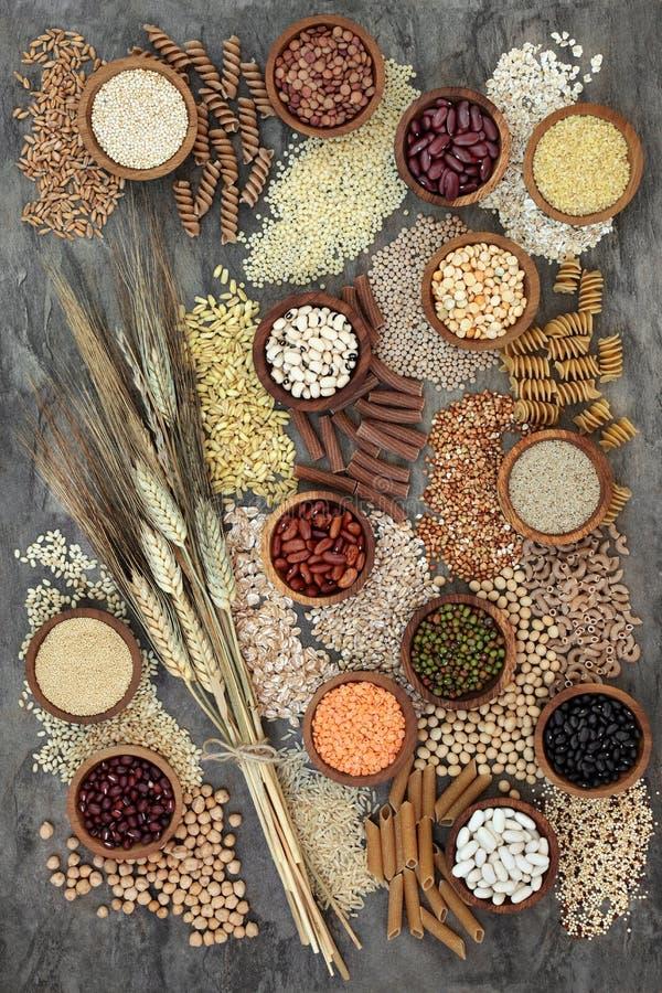 Nourriture biologique sèche de régime macrobiotique images stock