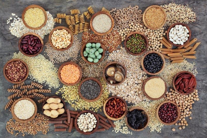 Nourriture biologique sèche de régime macrobiotique photo stock