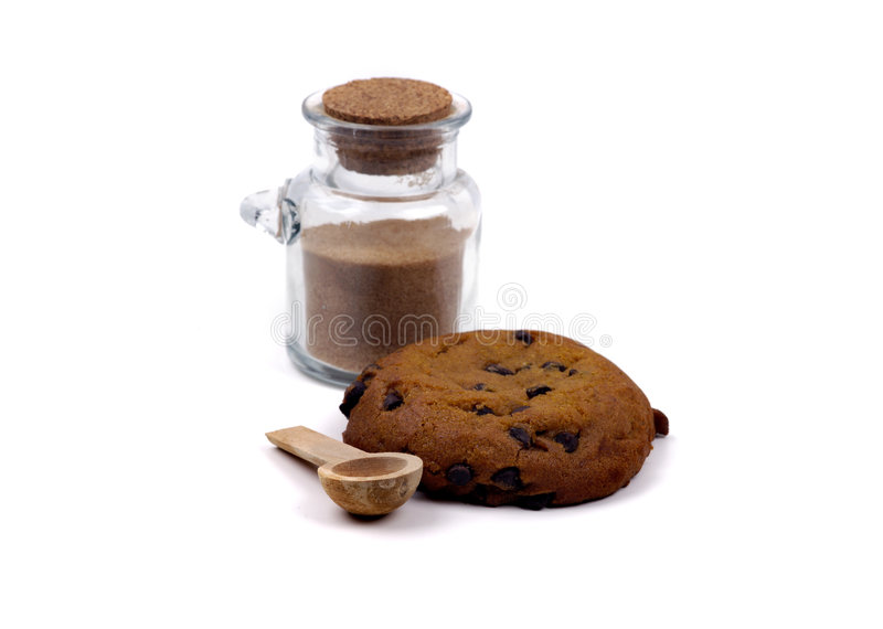 Nourriture - biscuit et sucre de potiron images stock