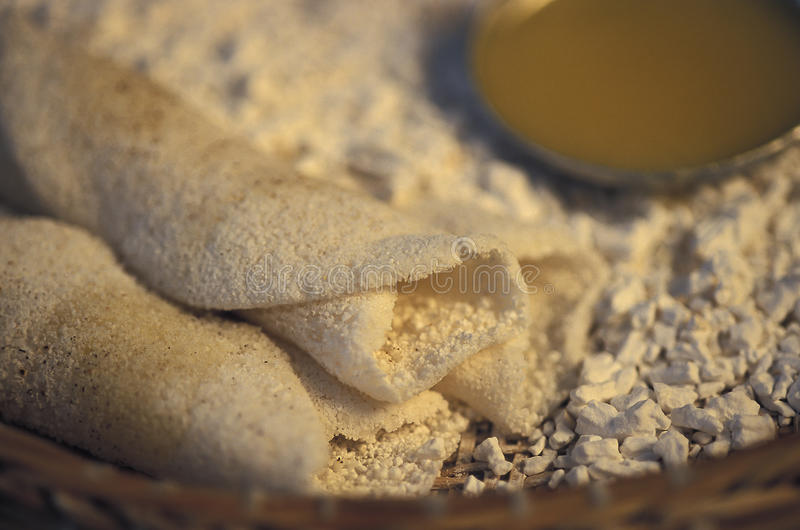 Nourriture brésilienne : Beiju, également connu sous le nom de tapioca photos libres de droits