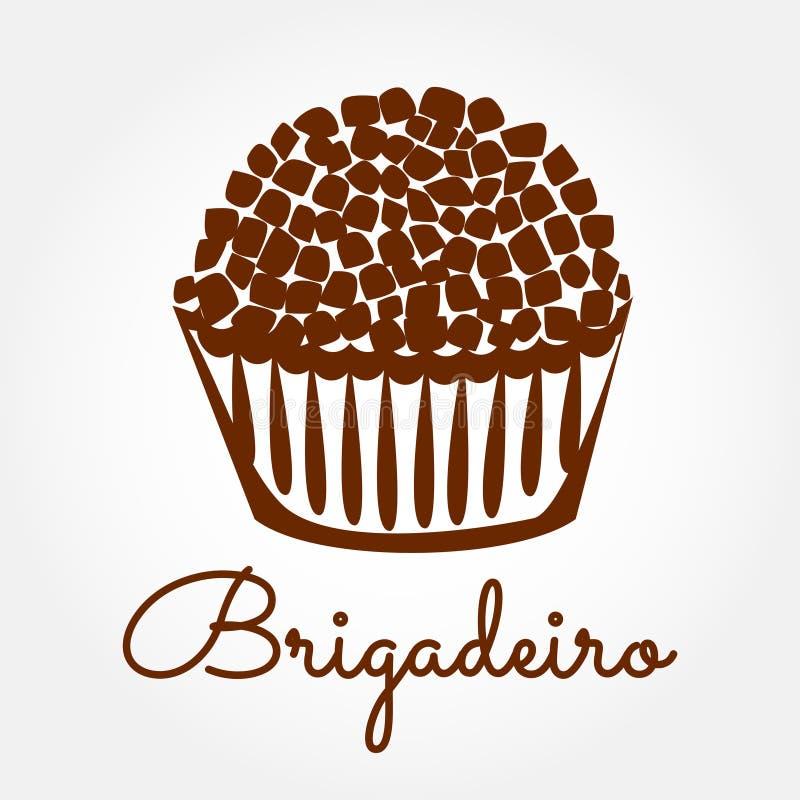 Nourriture brésilienne Brigadeiro illustration stock