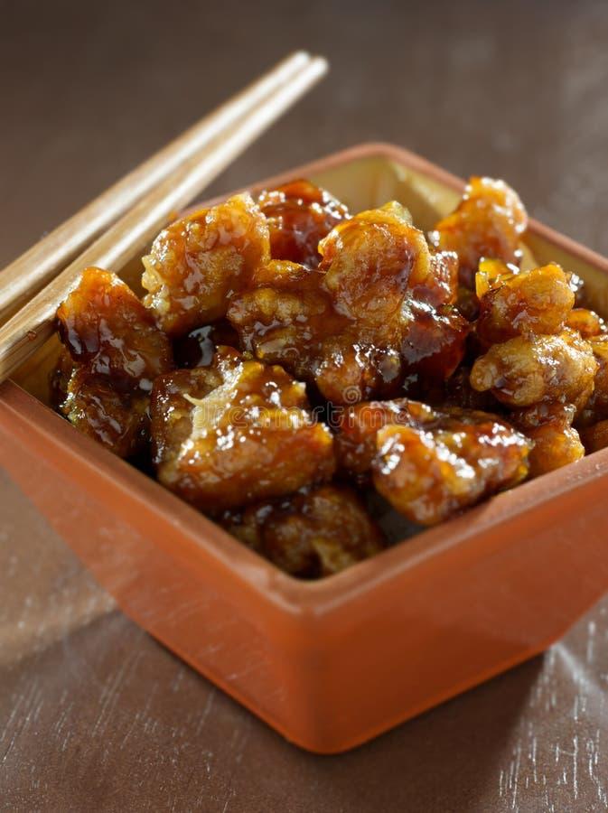 Nourriture Chinoise - Le Poulet De La TSO Générale Photographie stock libre de droits