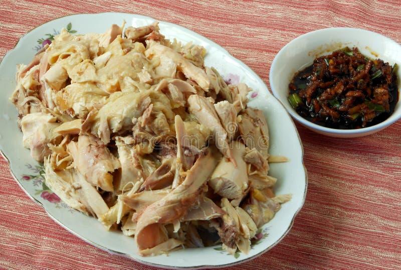 Nourriture chinoise, poulet de vapeur image libre de droits