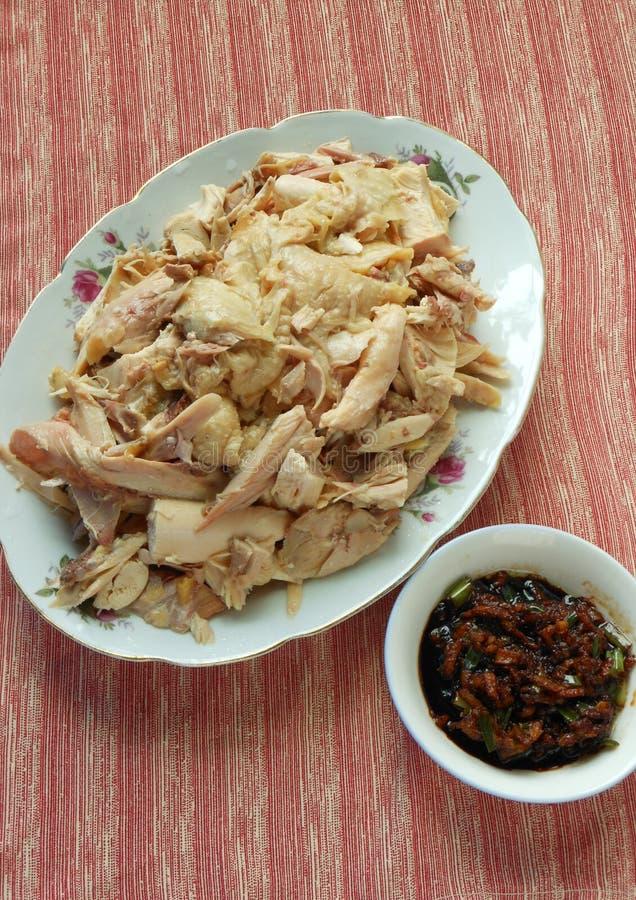 Nourriture chinoise, poulet de vapeur photo stock