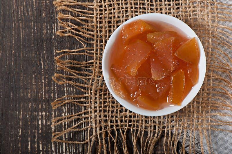 Nourriture - confiture douce délicieuse de pomme images libres de droits