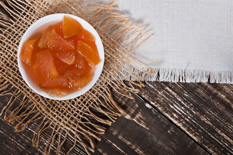 Nourriture - confiture douce délicieuse de pomme photo stock