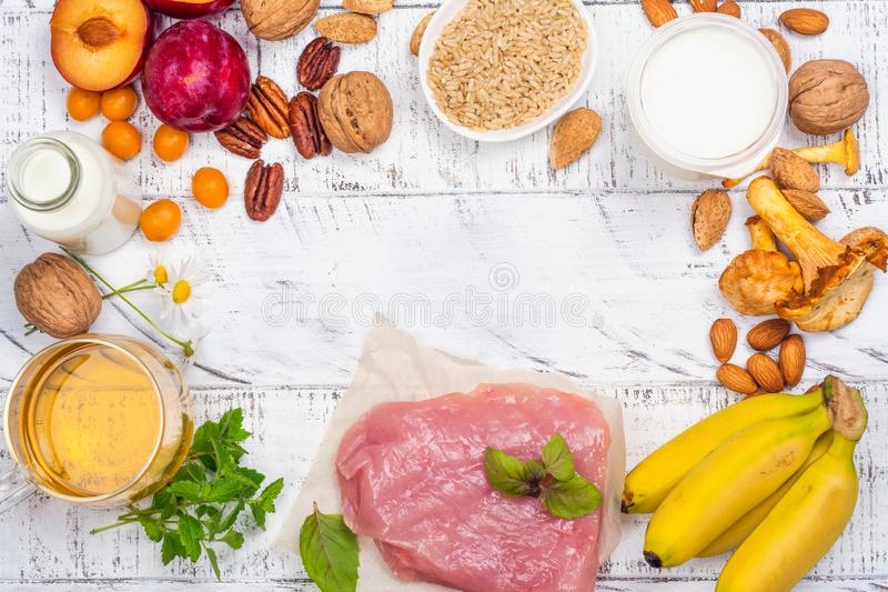 Nourriture contenant le melatonin photos stock