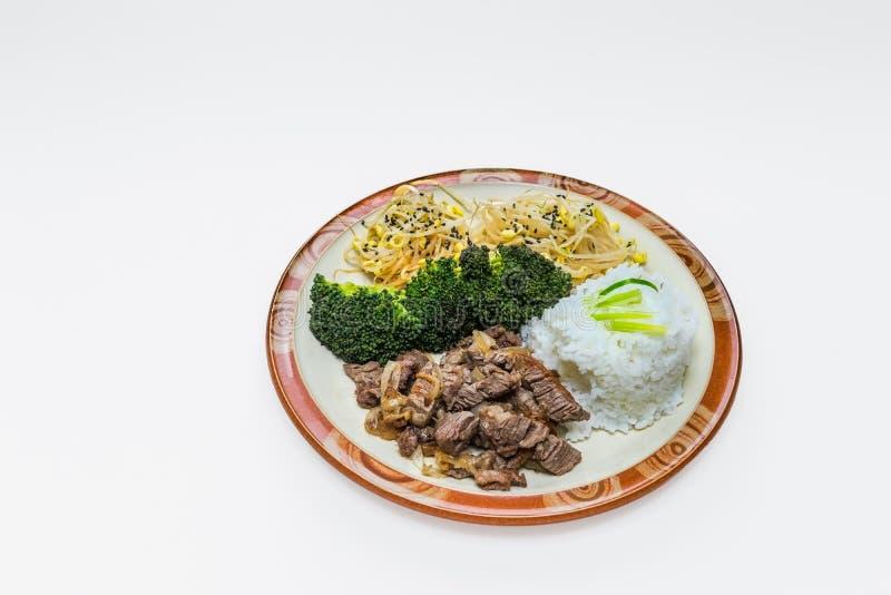 Nourriture coréenne de style image libre de droits