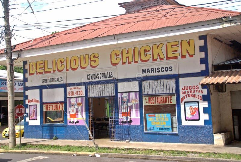 Nourriture créole en David - République du Panama photographie stock libre de droits