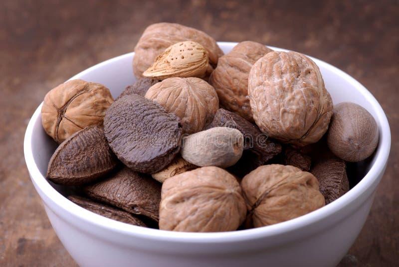 Nourriture - cuvette de noix photos libres de droits