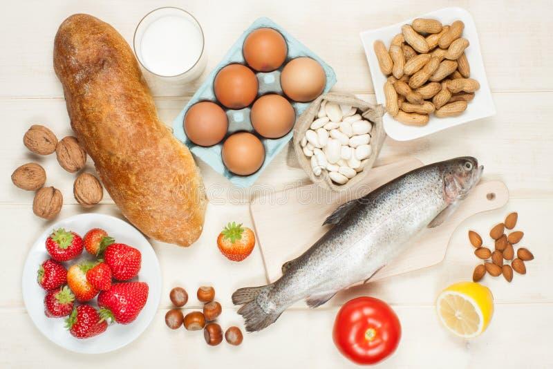 Nourriture d'allergie photographie stock libre de droits