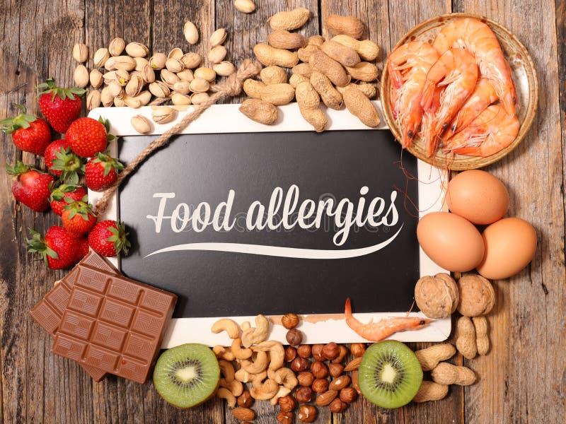 Nourriture d'allergie photographie stock