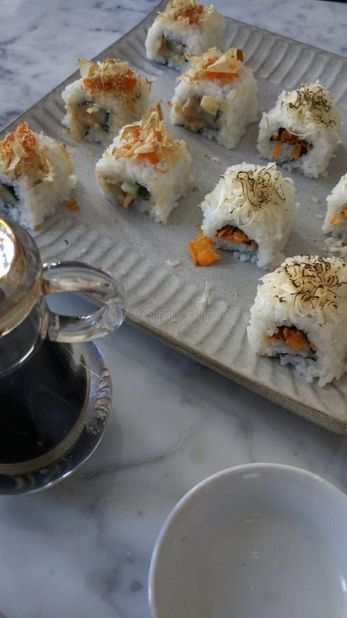 Nourriture d'Asiatique de sushi image stock