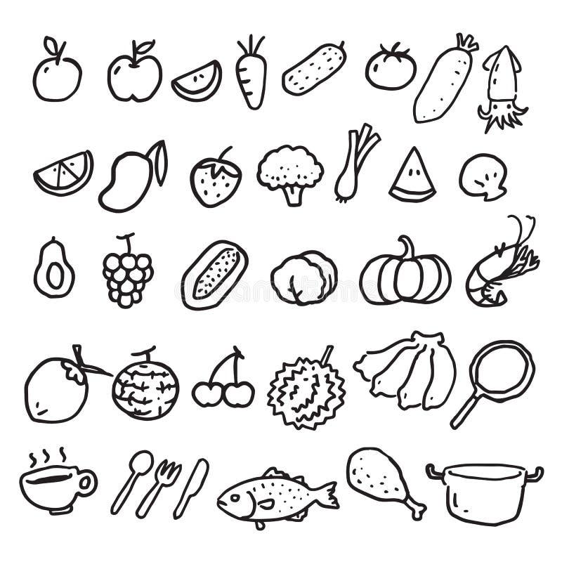 Nourriture d'aspiration de main, vecteur illustration de vecteur