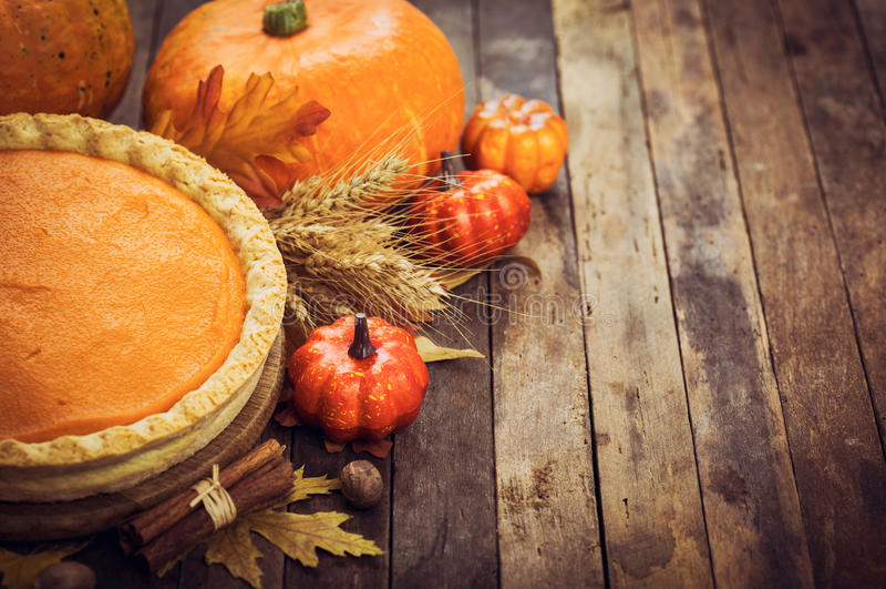 Nourriture d'automne - tarte de potiron image libre de droits