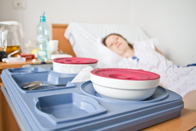 Nourriture d'hôpital photographie stock