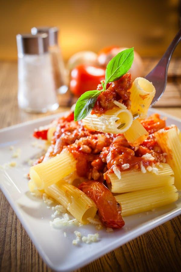 Nourriture d'Italien de pâtes de Penne image libre de droits