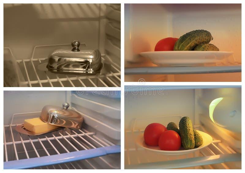 Nourriture dans le réfrigérateur image libre de droits