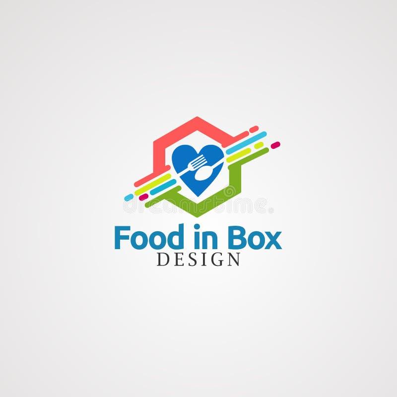 Nourriture dans le vecteur, l'icône, l'élément, et le calibre de logo de boîte pour la société illustration libre de droits