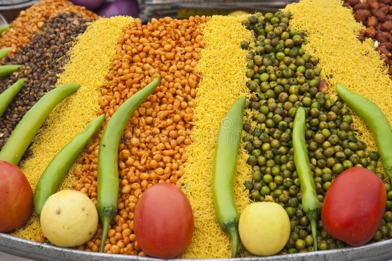 Nourriture dans les rues de l'Inde images libres de droits