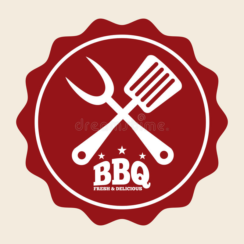Nourriture de barbecue illustration stock