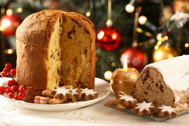 Nourriture de bonbon à Noël photo stock