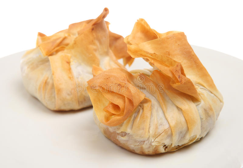 Nourriture de buffet de Canapes de pâtisserie de Filo photographie stock libre de droits