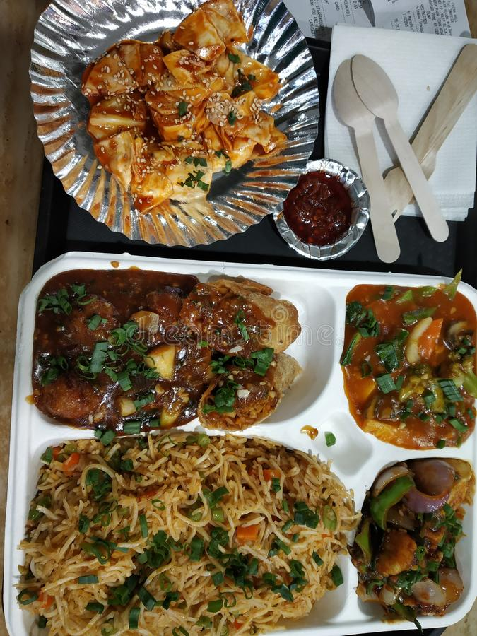 Nourriture de chaînes en Inde image stock