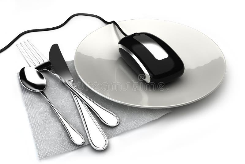 Nourriture de commande en ligne images libres de droits