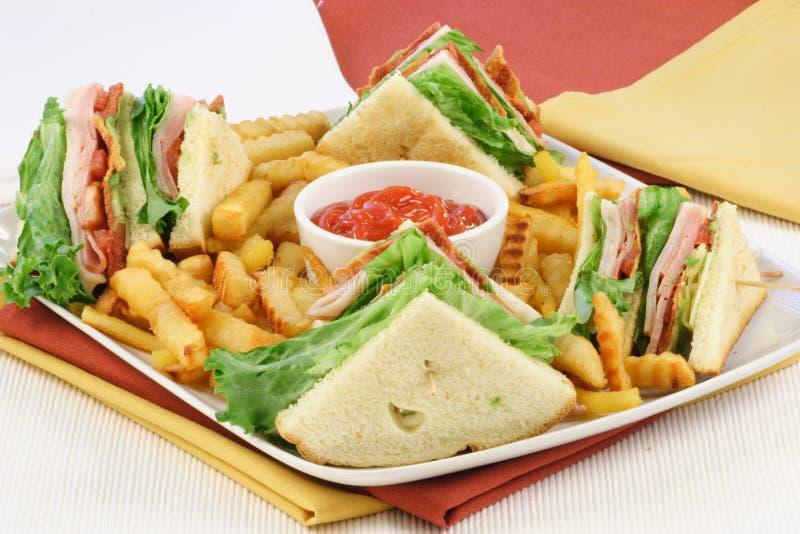 Nourriture de doigt de sandwich à club photo libre de droits