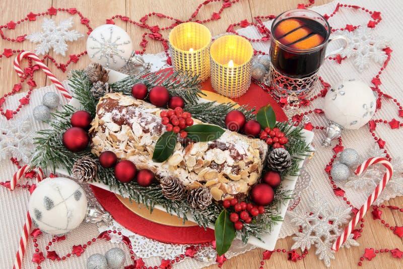 Nourriture de fête de Noël photo stock