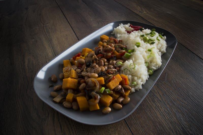 Nourriture de haricots de piments photos libres de droits