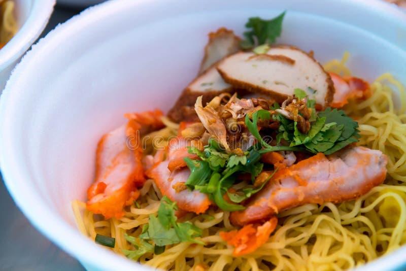Nourriture de Hong Kong, nouille de wonton image libre de droits