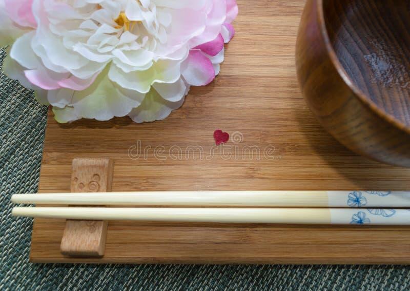 Nourriture de Japonais d'amour photographie stock libre de droits