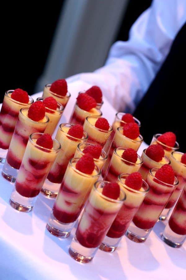 Nourriture de mariage photographie stock