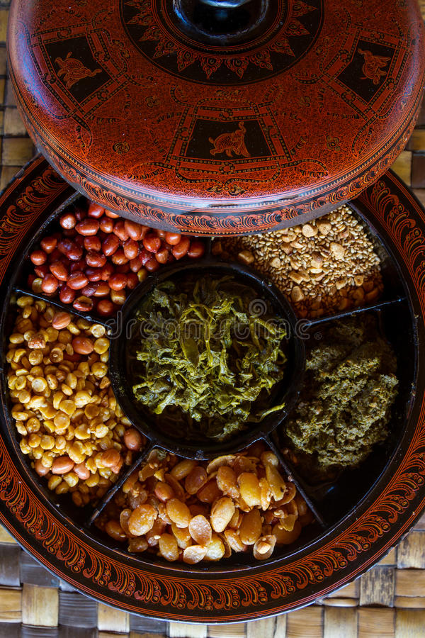 Nourriture de Myanmar images stock
