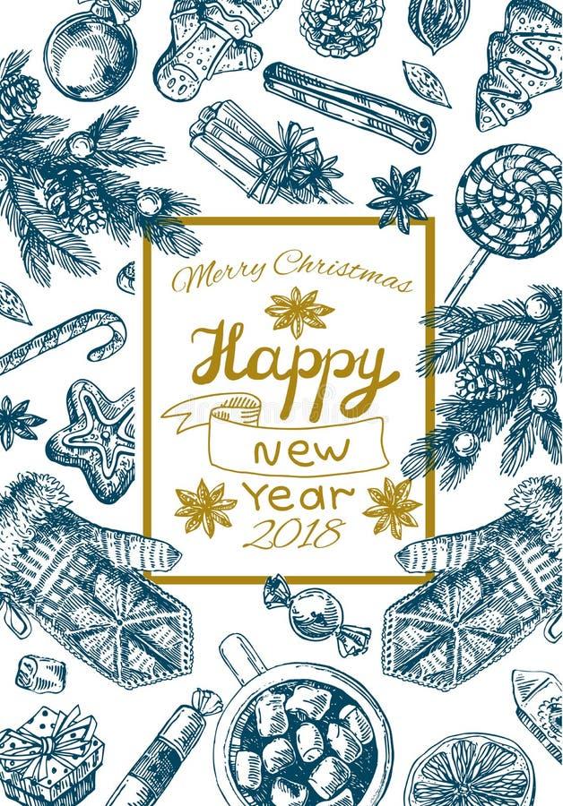 Nourriture de Noël d'illustration illustration libre de droits