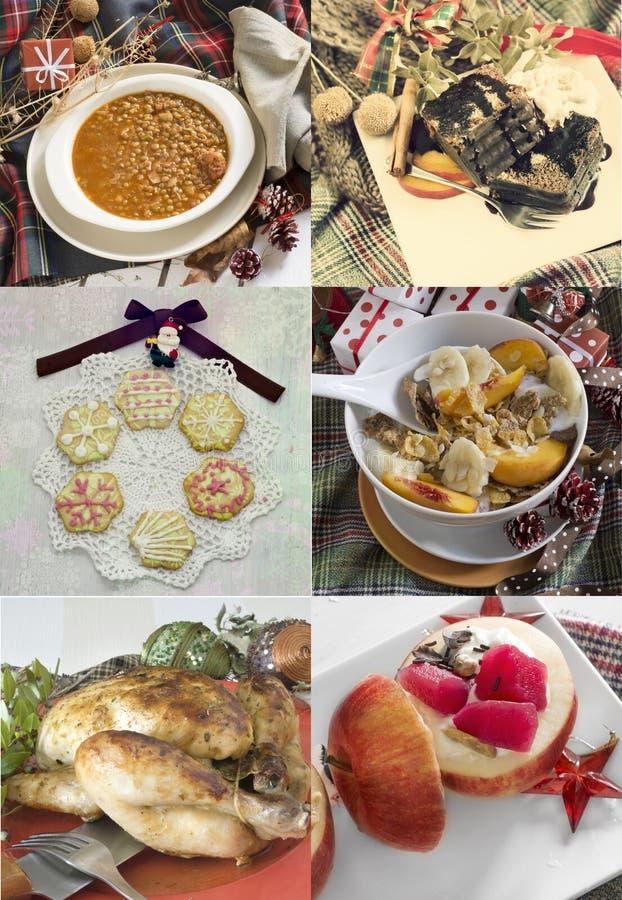 Nourriture de Noël de collage images libres de droits