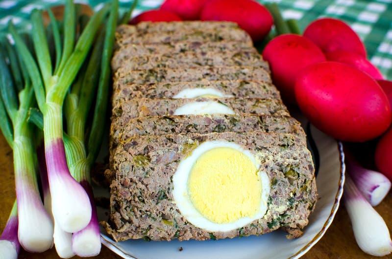 Nourriture de Pâques de Roumain - Drob images libres de droits