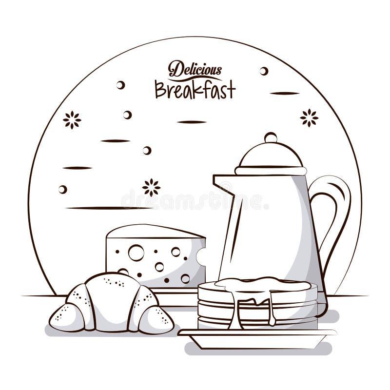 Nourriture de petit déjeuner délicieuse illustration stock