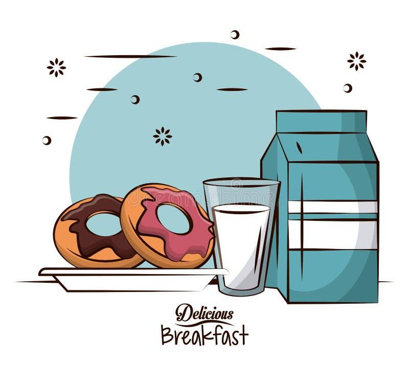 Nourriture de petit déjeuner délicieuse illustration libre de droits