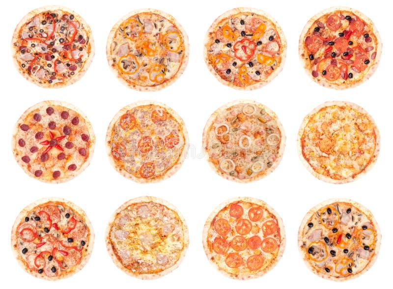 Nourriture de pizza toutes les pizzas photographie stock