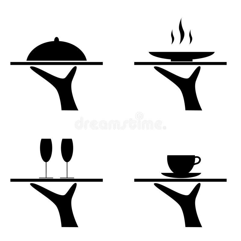 Nourriture de portion illustration stock