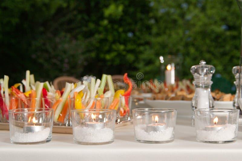 Nourriture de réception de mariage image stock
