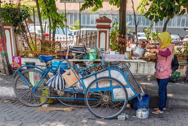 Nourriture de rue à Semarang, Java occidental, Indonésie photographie stock